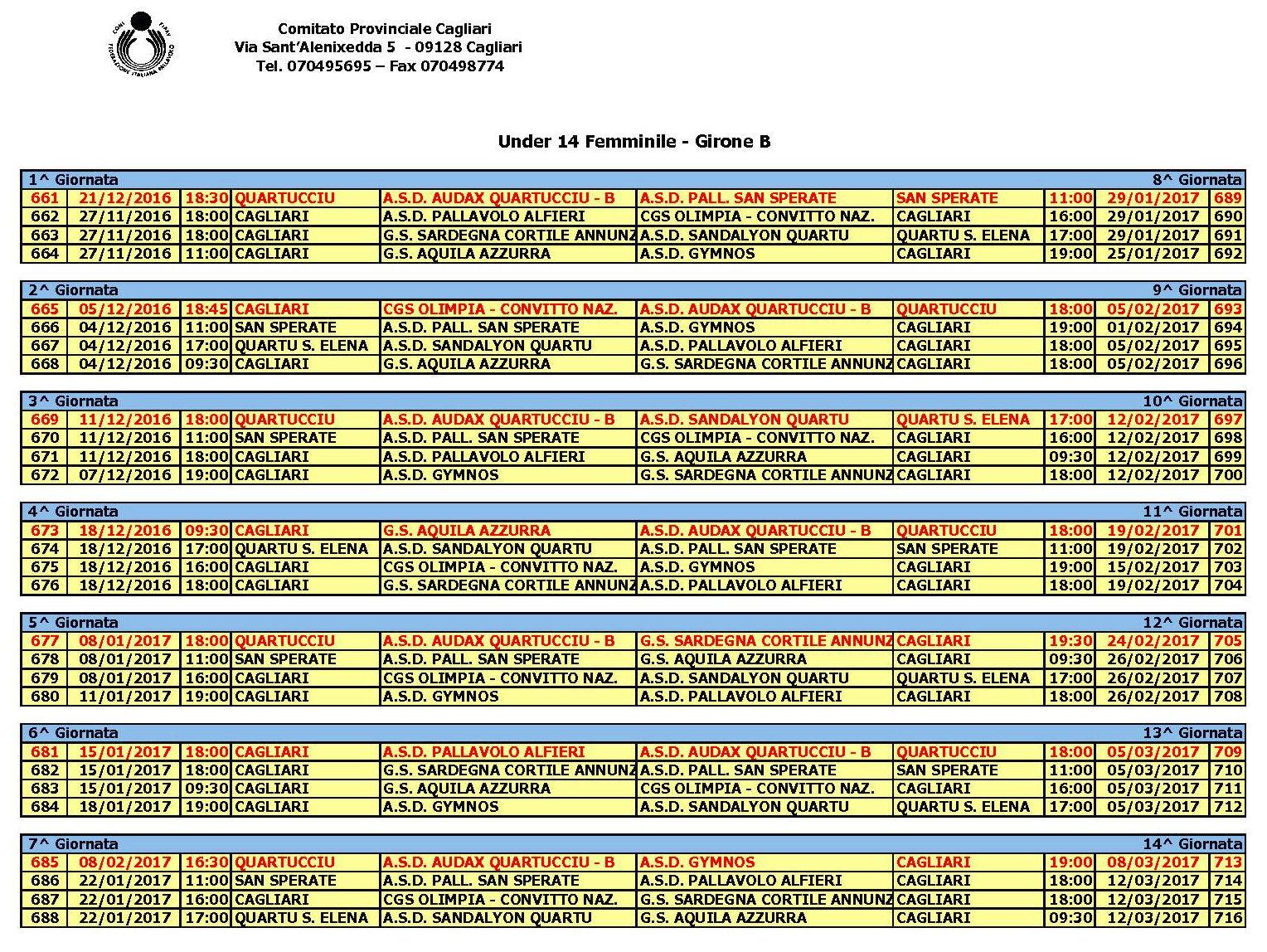 Calendario Fipav.Audax Comunicati Fipav Provinciale